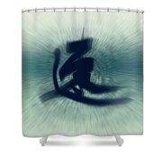 Speed - Modern Japanese Calligraphy Shower Curtain
