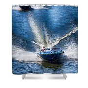Speed On The Water Shower Curtain