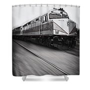 Speeding Along Shower Curtain