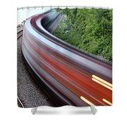 Speeding Train Shower Curtain