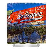 Spend Some Time In Dublin Texas With Dr Pepper Shower Curtain