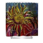 Spent Sunflower Shower Curtain
