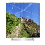 Sperone Fortress In Genova Shower Curtain