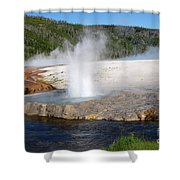 Spewing Beauty Shower Curtain