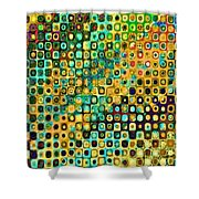 Spex Future Abstract Art Shower Curtain