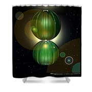 Spheramid 10  Shower Curtain