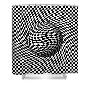 Sphere Abstract Pinch Shower Curtain