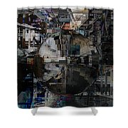 Sphere And Reflections Shower Curtain
