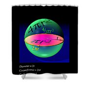 Sphere Equations Maths Poster Black Shower Curtain