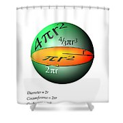 Sphere Equations Maths Poster White Shower Curtain