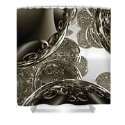 Spheres, No. 3 Shower Curtain