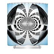 Spheroid Shower Curtain