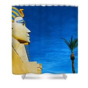 Sphinx And Palm Trees Las Vegas Shower Curtain