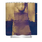 Sphinx Statue Blue Yellow And Lavender Usa Shower Curtain