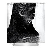 Sphinx Statue Torso Black And White Usa Shower Curtain