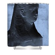 Sphinx Statue Torso Blue And Gray Usa Shower Curtain