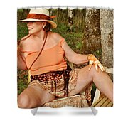 Spiced Accents Shower Curtain
