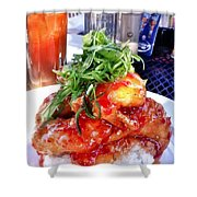 Spicy Sweet Chicken Shower Curtain