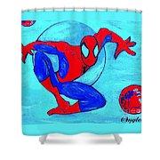 Spider-man  Shower Curtain