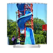 Spider Mountain Shower Curtain