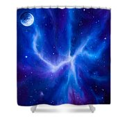 Spider Nebula Shower Curtain by James Christopher Hill
