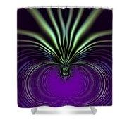 Spider Orchid Mandala Shower Curtain