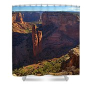 Spider Rock Sunrise Shower Curtain