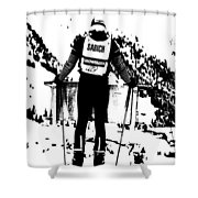 Spider Sabich Looking Over The Race Course Shower Curtain