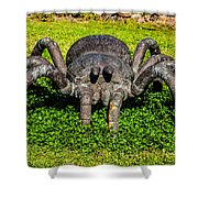 Spider Sculpture Shower Curtain