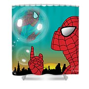 Spiderman 4 Shower Curtain