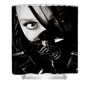 Spiked Mask Shower Curtain