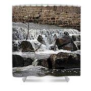 Spillway Waterfall Shower Curtain