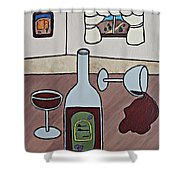 Essence Of Home - Spilt Wine Shower Curtain