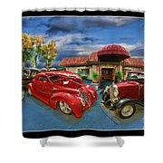 Spin A Yarn Car Show Shower Curtain