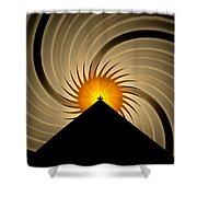 Spin Art Shower Curtain