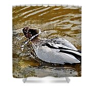 Spin Dry Duck Shower Curtain