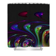 Spin Off Shower Curtain