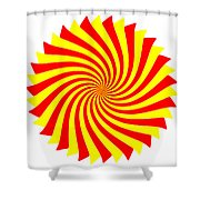 Spin Right On White Shower Curtain