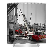 Spindle Extraction Bw Shower Curtain