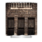 Spindles And Bricks Shower Curtain