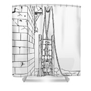 Spine Treatment, 1544 Shower Curtain