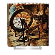 Spinnin' Spinster Shower Curtain