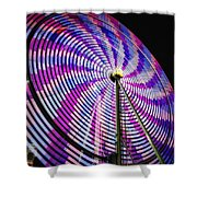 Spinning Disk Shower Curtain by Joan Carroll