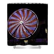 Spinning Ferris Wheel Shower Curtain