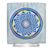 Spinning Flower Shower Curtain