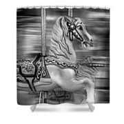 Spinning Horses Shower Curtain