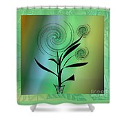Spinning Plant Shower Curtain