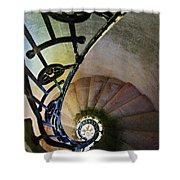 Spinning Stairway Shower Curtain