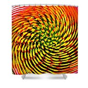 Spinning Watercolor  Shower Curtain
