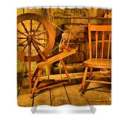 Spinning Wheel Shower Curtain